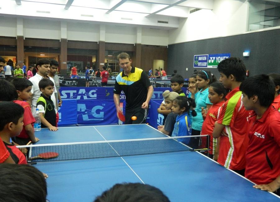 Peter Karlson Table Tennis Clinic - Manav Rachna