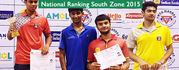 National Ranking South Zone 2015