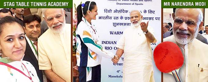 Our Director Mr Sandeep Gupta and Manika Batra meets our honourable Prime Minister of India Mr Narendra Modi.