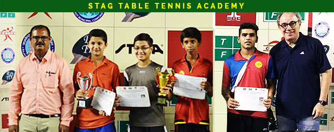 Parth Virmani and Shreyansh Goel of Stag Table Tennis Academy won bronze medal in National Ranking Table Tennis Championships 2016 (West Zone ) Rajkot.