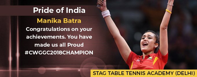 Manika Batra of Stag Table Tennis Academy has done it again!