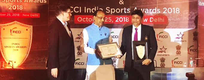 FICCI felicitates Mr. Sandeep Gupta with the prestigious 'Coach of the Year' award